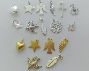 Add a personal touch ... sterling silver, 24k gold plated sterling silver or bronze charm