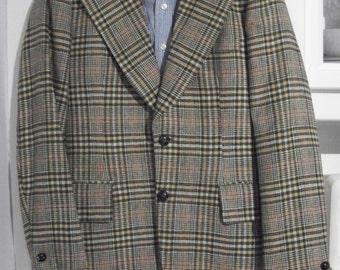 vintage all WOOL TWEED sports blazer JACKET