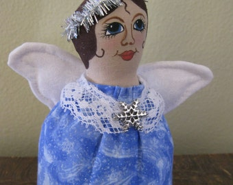 Fabric Angel in Blue, Angel,