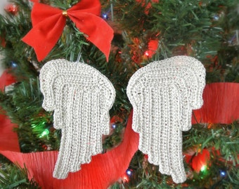 Crochet PATTERN Tiny Angel Wings - Earrings, Jewelry, Ornament - PDF Tutorial
