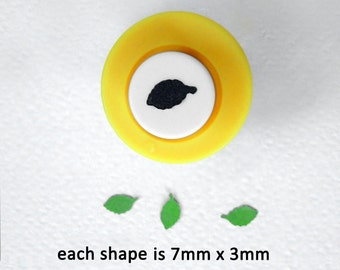 Punch Bunch mini leaf craft punch,  for beech, birch and rose leaves, for 1:12 dolls' house flowers and plants