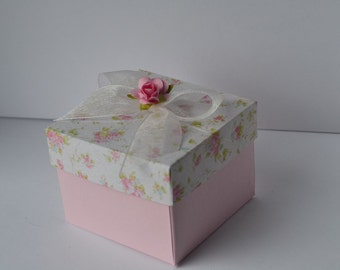 Pink rose Party favor box