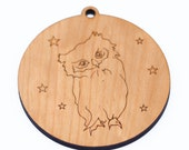 personalized owl christmas ornament // wooden ornament // holiday decoration