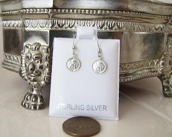 little Sterling Silver Angel cherub dangle Earrings