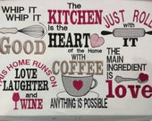 Kitchen cute quotes - machine embroidery designs - 4x4, 5x7  INSTANT DOWNLOAD