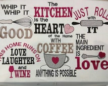Kitchen Cute Quotes Machine Embroidery Designs 4x4 5x7 Instant Kitchen Sayings 5x7 Embroidery Delight Your Source