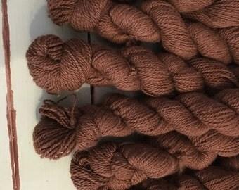 Organic Alpaca Sport Weight Yarn, Natural Light Brown, 200 yards, 2.5 oz, Soft, 2-ply, DK Weight, Farm Raised, Mill Spun, Farm to Fiber