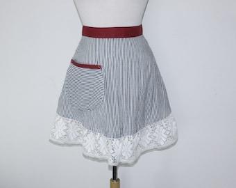 Gray strap Half Apron