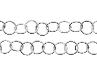 Sterling Silver 7mm Round Wire Circle Chain - 5ft (2453-5)/1