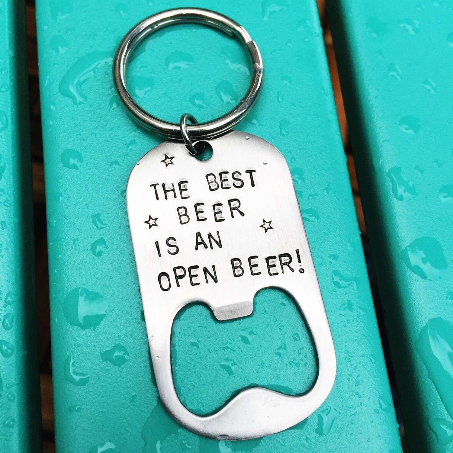 custom keychain bottle opener personalized great for a. Black Bedroom Furniture Sets. Home Design Ideas