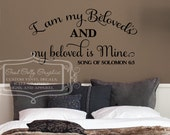 I am my Beloved's and my beloved is Mine - song of Solomon 6:3 - wall graphic - religious decal - scripture decal