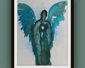 Beings of Light - Original Watercolor Painting by Alma Yamazaki