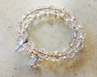 60's Vintage Crystal Wrap Bracelet