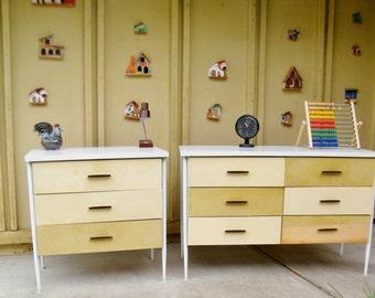 Vista of California Cal Style Dresser Set - Cal Style 6 drawer Dresser
