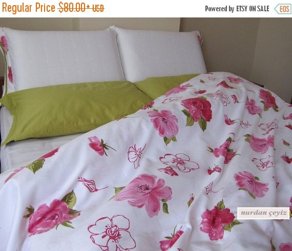 Sale pink shabby chic bedding duvet cover by nurdanceyiz - Shabby chic bedroom sets for sale ...