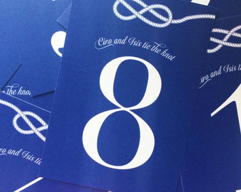 Customizable Wedding Knot Table Number Markers - Tie The Knot