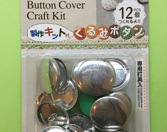 27mm Fabric Covered Button Starter Kit