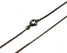 Sterling Silver 1 mm Chain - 19 inches long