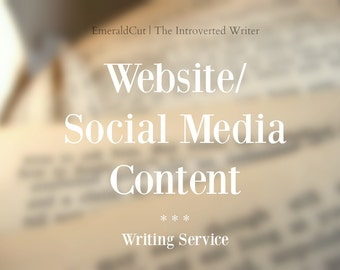 Custom Website, Social Media or Blog Content - 150+ Words Writing Service / Marketing Promotion Blog Website Help Posts Personalized Content