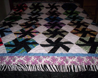 Hexagon'  Pieced Quilt