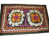 Uzbek  Tadjik Ura-Tube region silk handmade embroidery vintage suzani