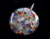 Orgonite Orgone Generator Pendant with Phenacite, Citrine, Tiger Eye, Lapis, Amethyst, Petalite, Labradorite, Apatite and more (k40)