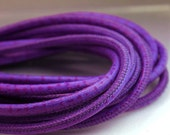1 ft genuine leather cord purple 4mm round leather ostrich print leather cord purple cord 4 mm leather Nappa leather cord Anne Londez