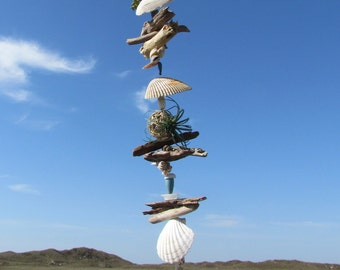 Driftwood and Seashell Mobile