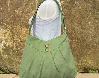 Summer Sale 10% off Grass green cross body bag, messenger bag, shoulder bag, diaper bag, cotton canvas bag