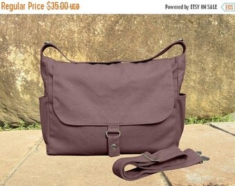 Summer Sale 10% off Brown canvas messenger bag, school bag, travel bag, womens purse, shoulder bags for women