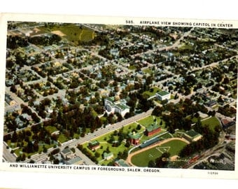 WILLIAMETTE UNIVERSITY, Salem Oregon Vintage Used Postcard