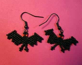 Bat Bead Earrings