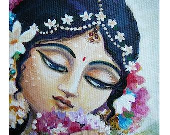Beautiful princess of palace dreamy painting prints greeting cards nursery wall art spiritual goddess portrait soft maiden nursery wall art