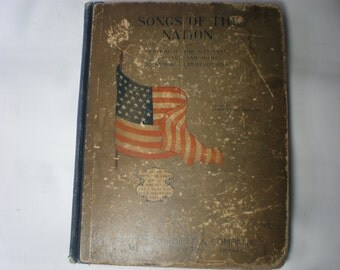 Antique Fourth of July Patriotic Songbook Book