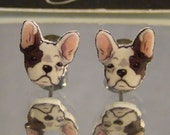 French Bulldog Face Stud earrings - Frenchie Jewelry - pet dog
