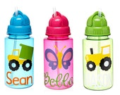 Personalized Kids Water Bottle with Straw, Kids Water Bottle, Great Party Favor