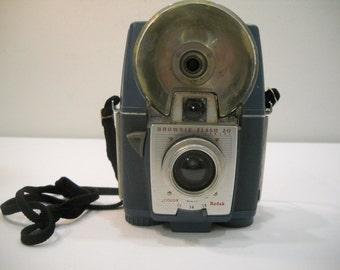 Old Camera Vintage Blue Brownie Flash 20 Kodak Camera