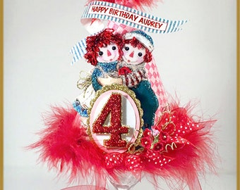 Raggedy Ann and Andy Birthday Party Hat