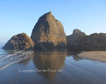 Beach Photography Beach Card Handmade Photo Greeting Card Landscape  Rocks on Copalis Beach
