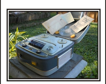 Portable Symphonic Deluxe Reel To Reel Tape Recorder