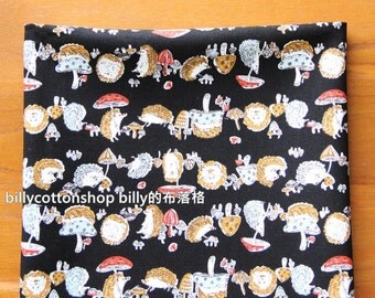 w754_55 - Hedgehog fabrics - cotton linen fabrics - Half Yard ( 2 color )