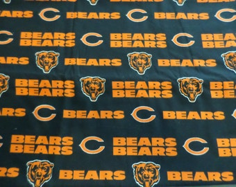 """Special Sale-Chicago Bears Cotton Fabric-2 pcs-54X57"""" and 54X41"""""""