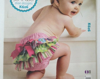 Diaper Covers Pattern:  Too Cute to Boot Ellie Mae Designs Kwik Sew.  Baby Clothes Patterns. Ruffled Diaper Covers.  Sewing Patterns.