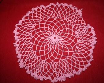 Vintage Hand Crocheted Doily- Semi Ruffled