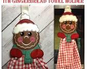 In The Hoop Gingerbread Towel Hanger Embroidery Machine Design