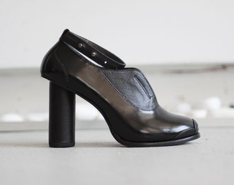 ROBIN - Black - FREE SHIPPING Handmade Leather Shoes with winter sale price
