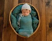 Wool Batting Fluff for Newborn Photography Prop, Blue Spruce, Teal, Blue Green, Childrens Photo Prop, Natural, Batts, Fleece, Fiber Arts