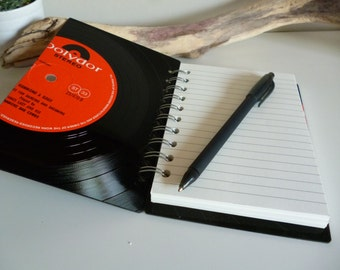 James Last Record Notebook A6 Recycled Vintage Vinyl Record Writing Pad Journal Unique Gift for music lovers Red Black Hammond organ music