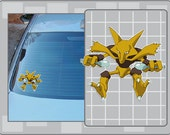 ALAKAZAM vinyl decal from Pokemon Sticker for Just about Anything!