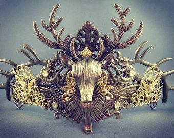 Baratheon Crown - Stag Crown Baratheon Cosplay Crown Costume Crown Gold Stag Crown Stag King